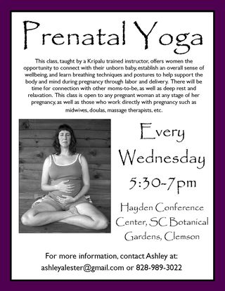 Prenatal yoga flyer fall2011